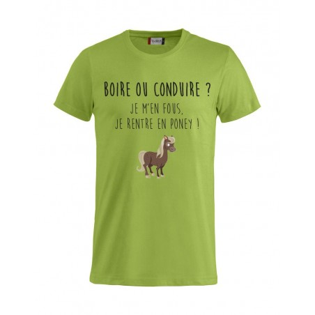 Tee-Shirt H Boire ou Conduire