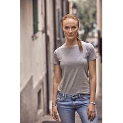 Tee-Shirt Col Rond Femme à...