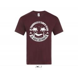 Tee-Shirt Col V Homme Je Travaille à Temps Plein