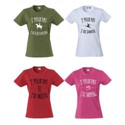 Tee-Shirt Femme J'peux pas