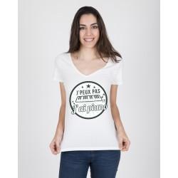 Tee-Shirt Col V Femme J'ai...