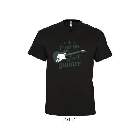 Tee-Shirt Col V Homme J'ai Guitare