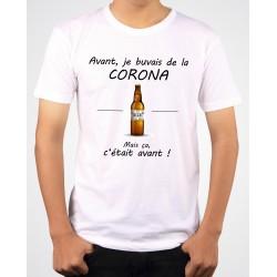 Tee-Shirt Mixte Avant Je Buvais de la Corona