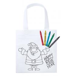 Sac shopping de Noël à colorier WISTICK
