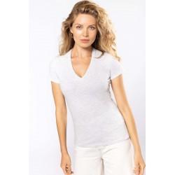 Tee-Shirt Col V Femme BIO à...