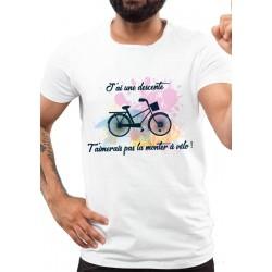 Tee-Shirt Homme Descente à Vélo