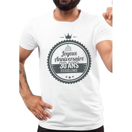 Tee-Shirt Homme ANNIVERSAIRE EXCELLENCE