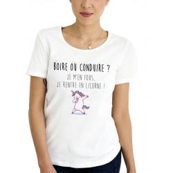 Tee-Shirt F Boire ou Conduire