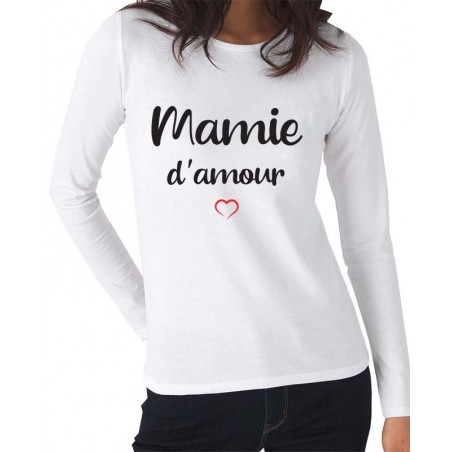 Tee-Shirt Manches Longues Mamie d'Amour