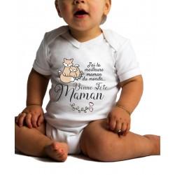 Body Bébé Bonne Fête Maman Renard