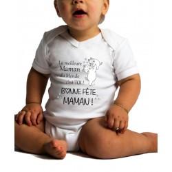 Body Bébé Bonne Fête Maman...