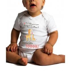 Body Bébé Bonne Fête Maman Girafe