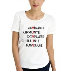 Tee-Shirt Maman Scrabble