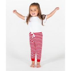 Pantalon Enfant Rouge à Rayures