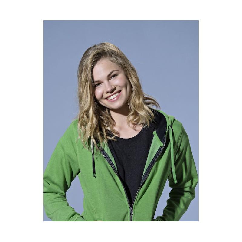 Sweat Femme zippé à capuche à personnaliser Taille XS Couleur Vert