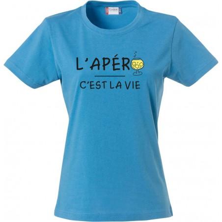 Tee-Shirt F L'apéro c'est la vie
